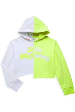Stella McCartney Little Girl's & Girl's Cropped Logo Hoodie - - Size 10