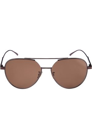 Bottega Veneta Women's Minimalist 59MM Aviator Sunglasses