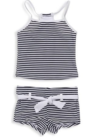 Snapper Rock Little Girl's & Girl's Two-Piece Nautical Stripe Tankini Set - - Size 12