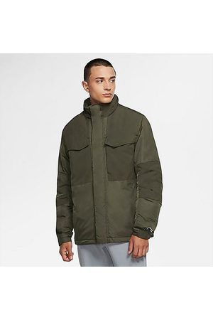 Nike Men Jackets - Men's Sportswear M65 Synthetic-Fill Jacket in /Medium Olive Size Small 100% Nylon
