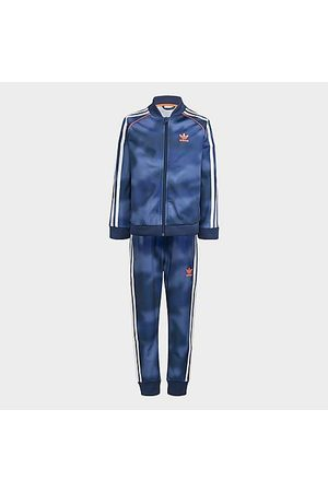 adidas Boys' Toddler and Little Kids' Originals Allover Print Camo SST Track Suit in /Crew Size Small Polyester