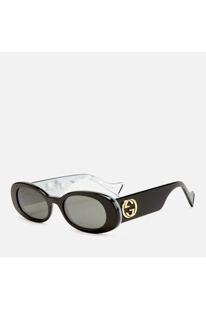 Gucci Women's Oval Frame Acetate Sunglasses