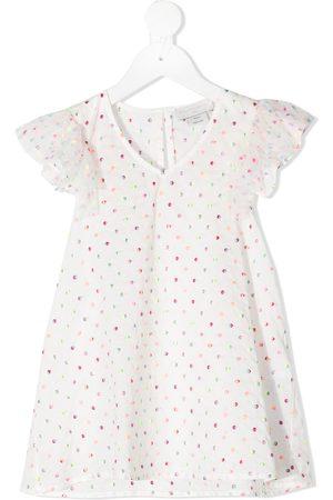 Stella McCartney Ruffled polka dot blouse
