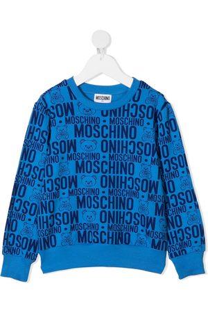 Moschino Teddy Bear logo print sweatshirt