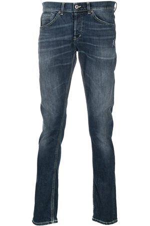 Dondup Men Straight - Whiskered straight-fit jeans