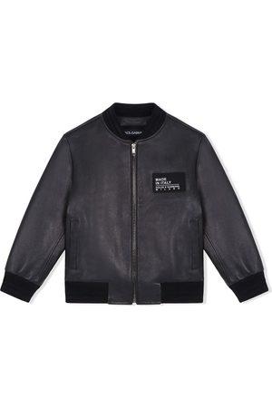 Dolce & Gabbana Boys Bomber Jackets - Logo patch bomber jacket