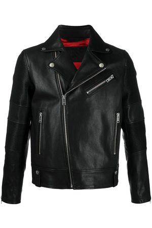 Diesel Ribbed panelling biker jacket