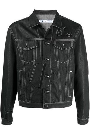 OFF-WHITE Arrow-print denim jacket
