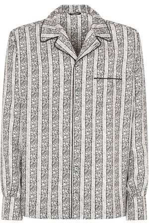 Dolce & Gabbana Men Shirts - Floral print silk shirt