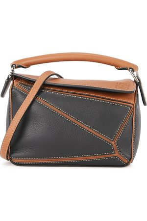 Loewe Puzzle mini two-tone leather cross-body bag