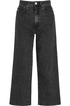 Totême Women High Waisted - Dark grey wide-leg jeans