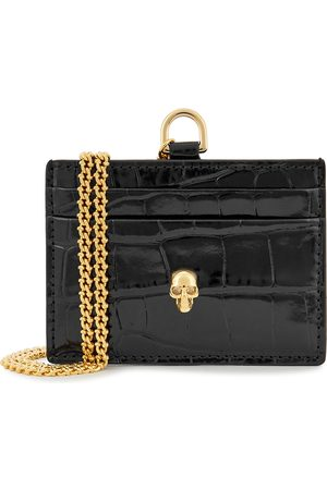 Alexander McQueen Women Purses - Leather cardholder and chain