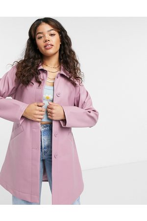 Monki Rori patent jacket with belt in