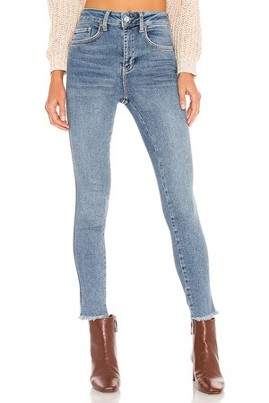 Free People High Rise Jegging in Blue.