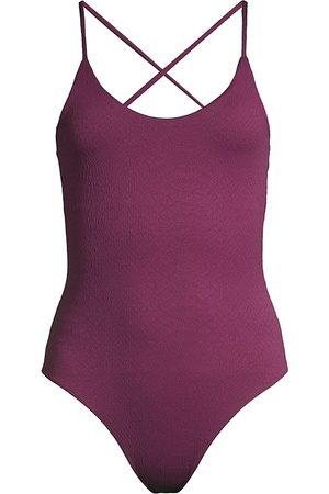 Le Swim Women's Merida One-Piece Swimsuit - Plum - Size 6