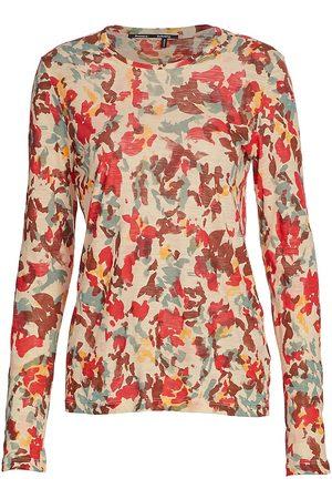 Proenza Schouler Women's Floral Tissue Jersey T-Shirt - Multi - Size Small