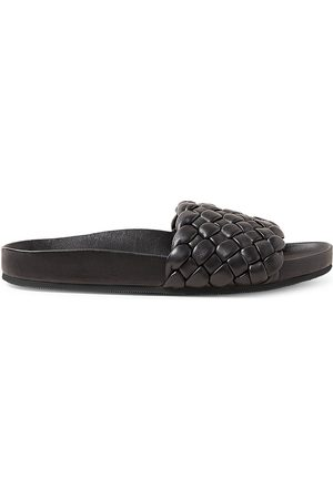 Loeffler Randall Women's Sonnie Woven Footbed Leather Sandals - - Size 9