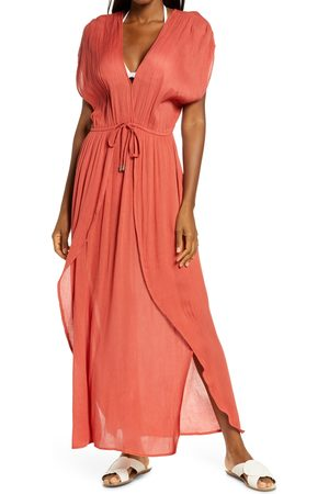 Delan Women's Wrap Maxi Cover-Up Dress