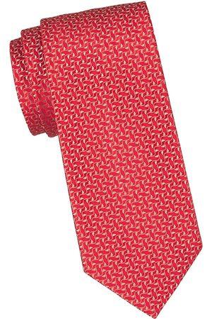 Charvet Men's Neat Ivy Leaf Silk Tie