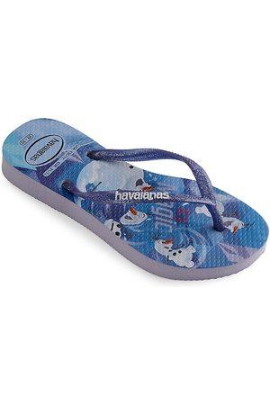 Havaianas Little Girl's & Girl's Frozen Slim Flip Flops - Quiet Lilac - Size 10 (Toddler)