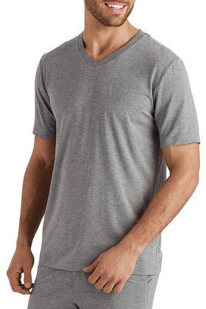 Hanro Men's Casuals Short-Sleeve V-Neck T-Shirt - Stone Melange - Size Large