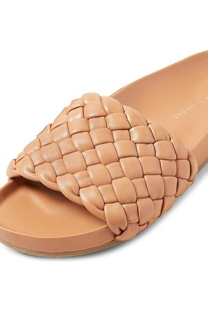 Loeffler Randall Women's Sonnie Woven Footbed Leather Sandals - - Size 10.5
