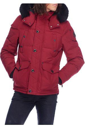Moose Knuckles Men's Round Island Frost Fox Fur-Trim Down Jacket - Comet - Size XXL