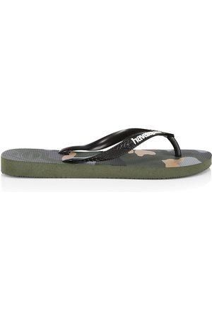 Havaianas Men's Top Camo Flip Flops - Olive - Size 8