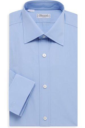 Charvet Men's Solid Poplin Dress Shirt - Light - Size 15.5
