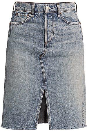 RAG&BONE Women's High-Rise Denim Midi Skirt - Farrow - Size Denim: 32