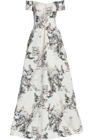 Rene Ruiz Collection Women's Textured Cap-Sleeve Gown - - Size 14