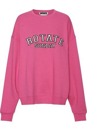ROTATE Women's Sunday Iris Crewneck Sweatshirt - Carmine Rose - Size XS