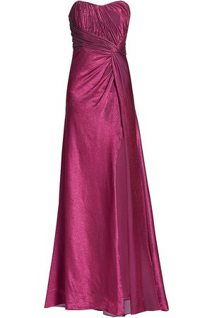 Rene Ruiz Collection Women's Draped Knot Strapless Gown - - Size 14
