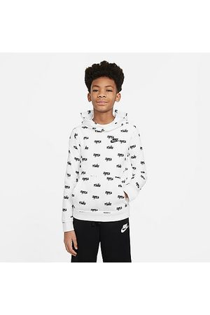 Nike Boys' Sportswear Printed Pullover Hoodie in / Size Small Cotton/Polyester