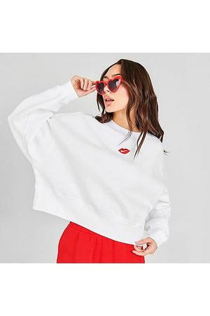 Nike Women's Sportswear Lips Crew Sweatshirt Size X-Small Fleece