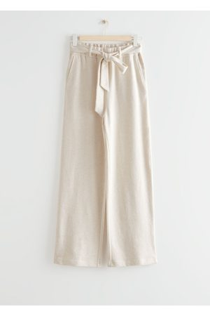 & OTHER STORIES Wide Belted Cotton Lounge Trousers
