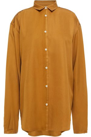Totême Women Long sleeves - Totême Woman Benicia Silk-twill Shirt Saffron Size M
