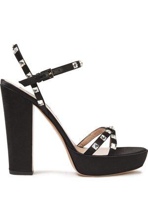 VALENTINO GARAVANI Woman Rockstud Glam Satin Platform Sandals Size 36