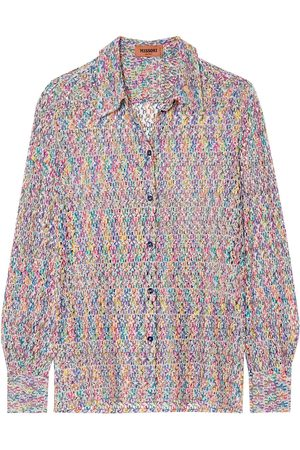 Missoni Woman Crochet-knit Shirt Size 40