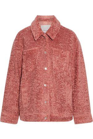 Cinq A Sept Women Jackets - Woman Julia Faux Shearling Jacket Antique Rose Size L