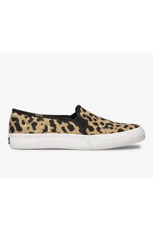 Keds Double Decker Leopard Tan, Size 6.5m Women's Shoes