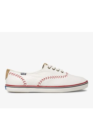 Keds Women Sneakers - Champion Pennant Leather Off , Size 5m Women's Shoes