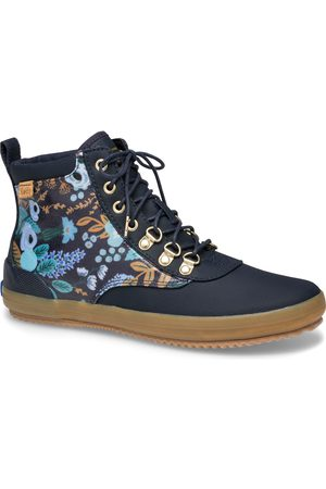 Keds X Rifle Paper Co. Scout Water-resistant Boot Garden Party Navy Multi, Size 5m Women's Shoes