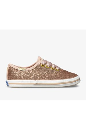 Keds X kate spade new york Champion Glitter Sneaker Rose , Size 5m Shoes