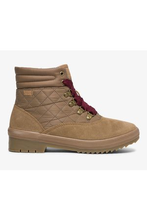 Keds Women Boots - Camp Boot Water-resistant Suede W/ Thinsulate™ Toasted Coconut, Size 5m Women's Shoes