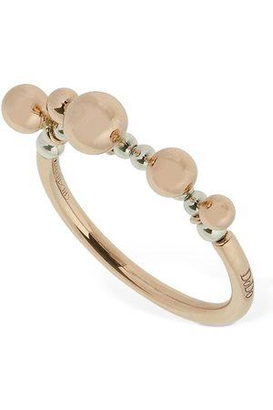 Dodo 9kt Rose Bollicine Thin Ring