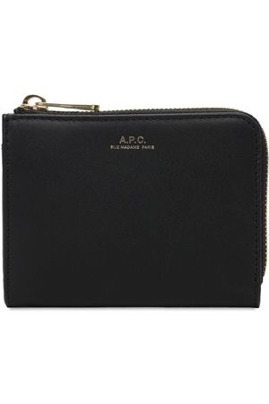 A.P.C. Women Wallets - Compact Lise Leather Card Holder