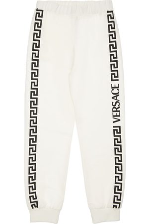 VERSACE Cotton Sweatpants W/ Side Print