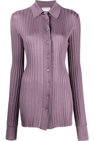 Bottega Veneta Ribbed-knit long-sleeve shirt