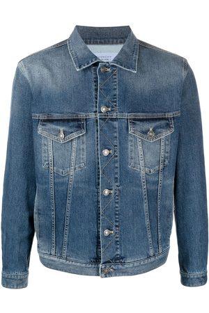 Givenchy Men Denim Jackets - Logo print buttoned denim jacket